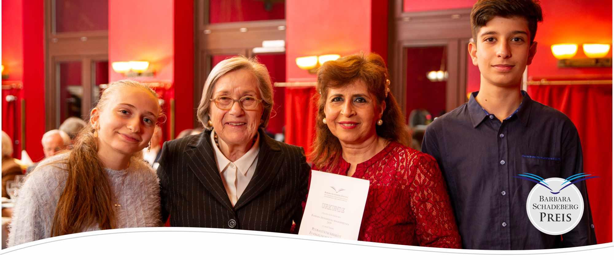 Barbara-Schadeberg-Stiftung | Sonderpreis 2019