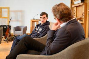 Maurice Conrad (li.), Klimaliste Rheinland-Pfalz, gemeinsame Fraktion Piraten&Volt im Mainzer Stadtrat, und Dr. Andreas Hollstein, CDU Altena